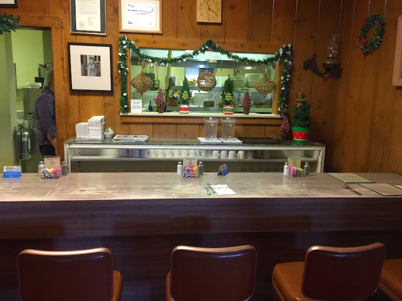The counter at Duarte's Tavern in Pescadero