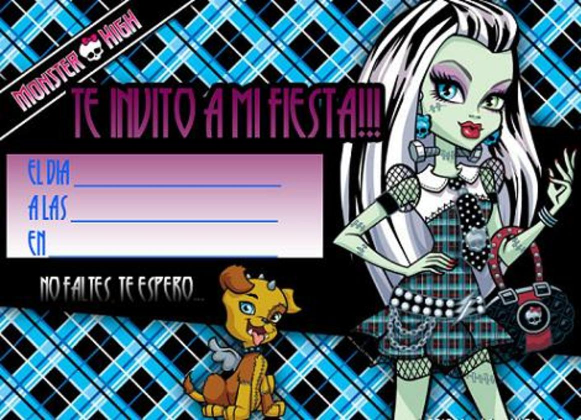 Invitaci Cumplea Para Imprimir Frankie Monster High