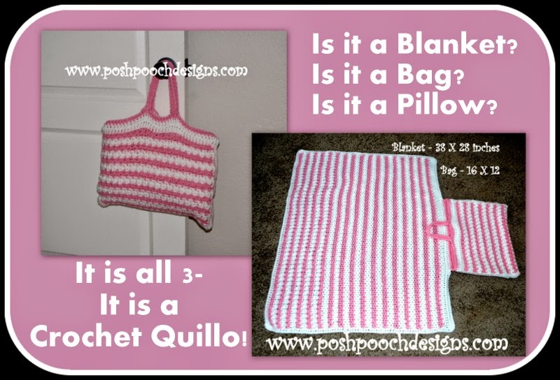 Crochet Quillow : Posh Pooch Designs Dog Clothes: Crochet Quillo - Its a Blanket, Its a ...