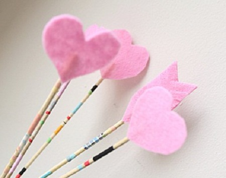 Muyvariadocom Como Hacer Flechas Romanticas De San Valentin - Decoracion-san-valentin-manualidades