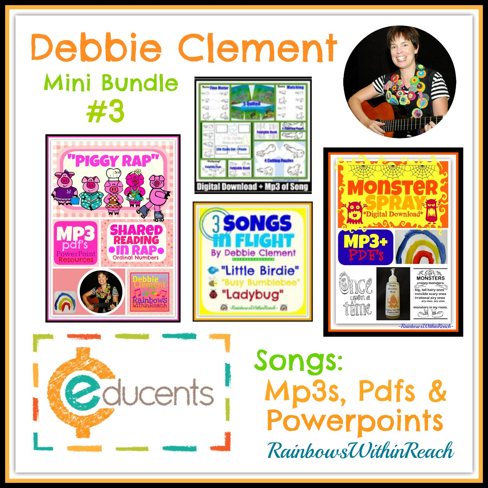 Debbie Clement's Songs in Digital Download at DEEPLY Discounted Prices through Educents