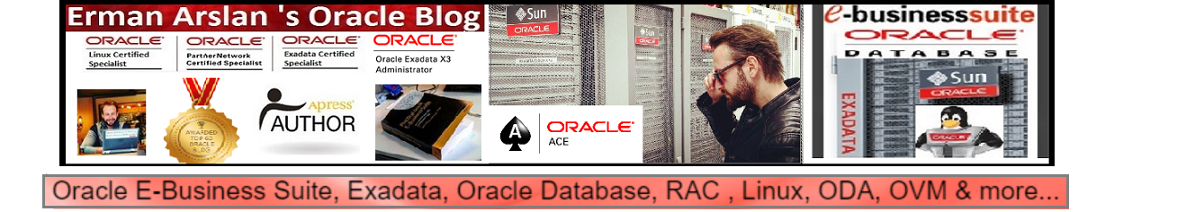 Erman Arslan's Oracle Blog