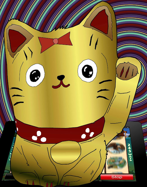 welcoming cat maneki neko