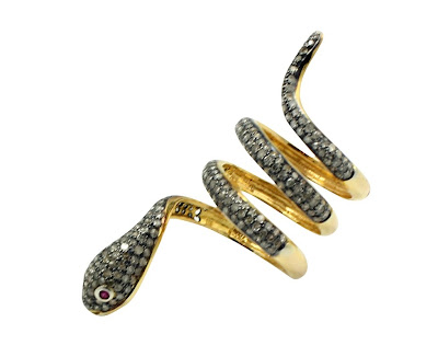 J/Hadley Pave Swirl Snake Ring