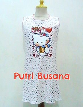 putri busana Dress hello kitty