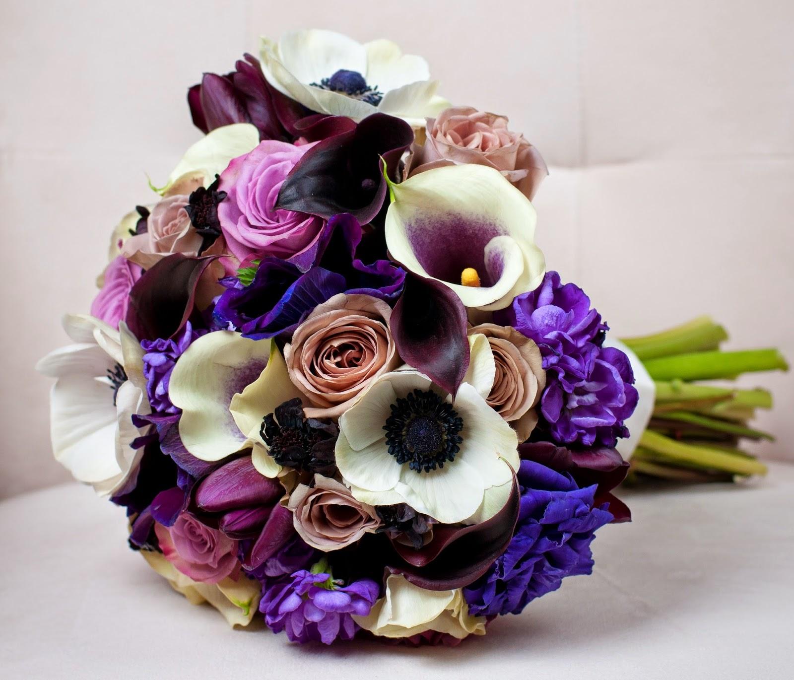 Purple anemone flower bouquethttprefreshrosespot blue anemone bouquet izmirmasajfo