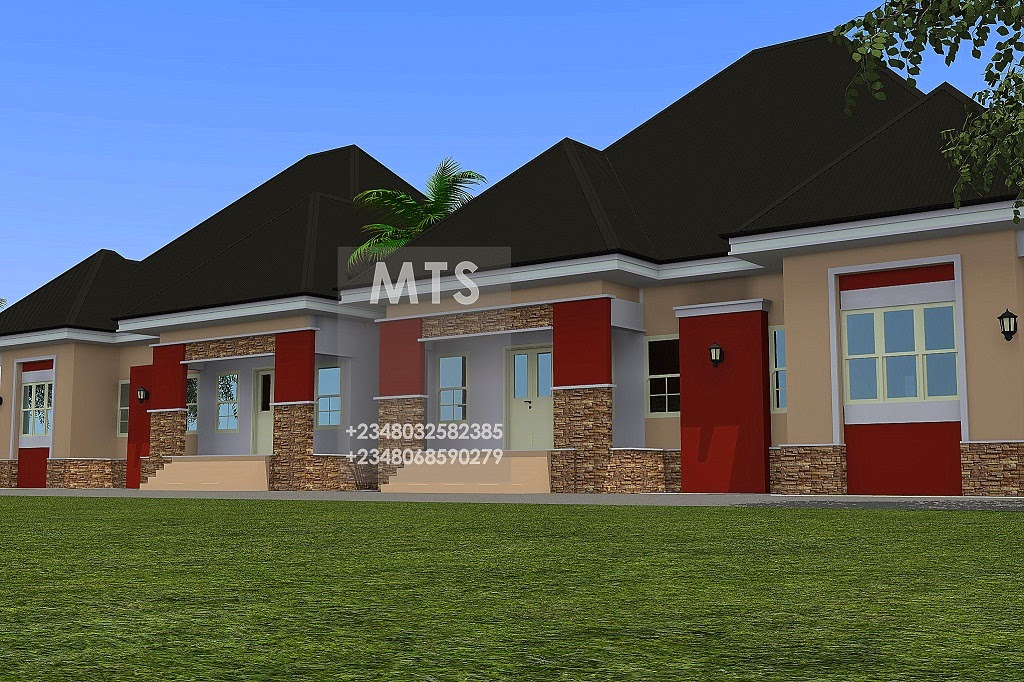3 bedroom twin bungalow residential homes and public designs for Twin bungalow plans