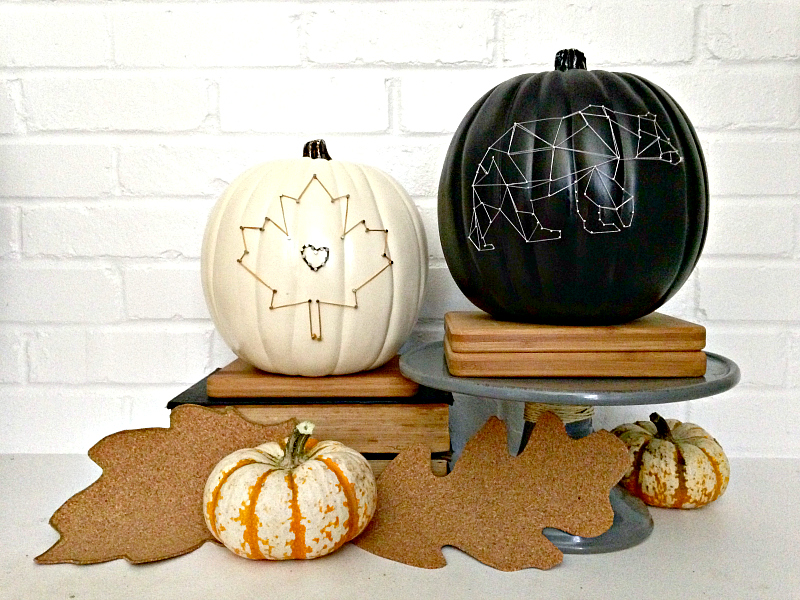 Creative Pumpkin Ideas - string art pumpkins