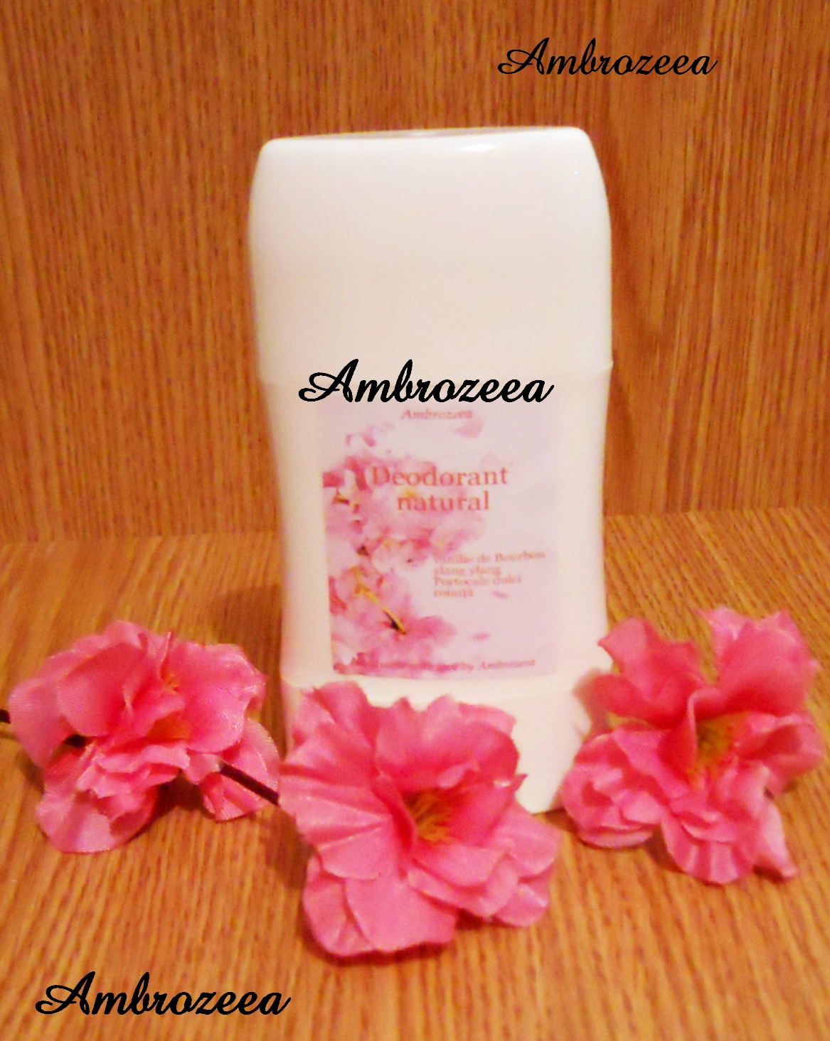 Deodorant natural AmbraDeo Flowers of Paradise cu Santal si Ylang-ylang