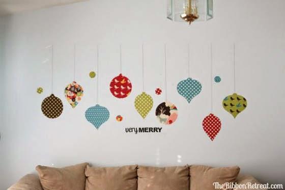 Hogares frescos 17 hermosas ideas de navidad para decorar - Ideas para decorar la pared ...