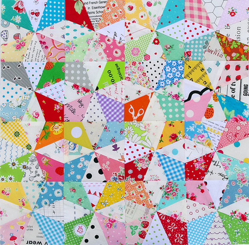 Kaleidoscope Block Tutorial and Paper Piecing Pattern