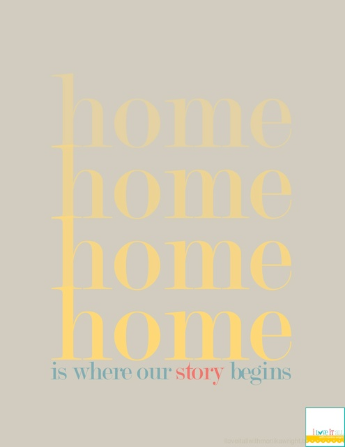 Home Is Where Our Story Begins Printable | Monika Wright