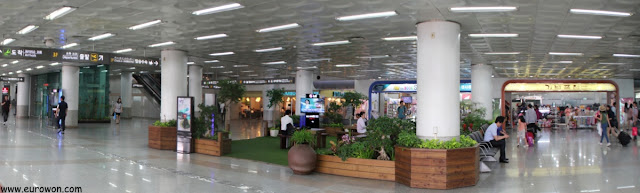 Terminal del aeropuerto de Gimpo en Seúl