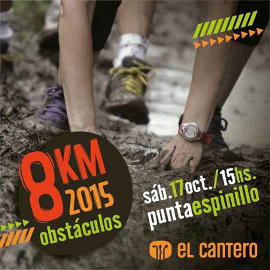 8k en obstáculos para tríos de El Cantero (Punta Espinillo, Montevideo; 17/oct/2015)