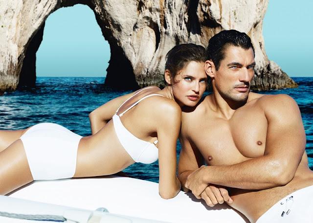 Dolce&Gabbana, Light Blue Limited Edition, Sunset in Salina, Swimming in Lipari, Aeolian Islands, Sicily sea, Mediterranean summer, Bianca Balti, David Gandy, Capri sea,