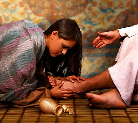 Jesus' Feet Anointed