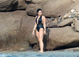 Demi Lovato – wearing a swimsuit at a beach in St. Barts