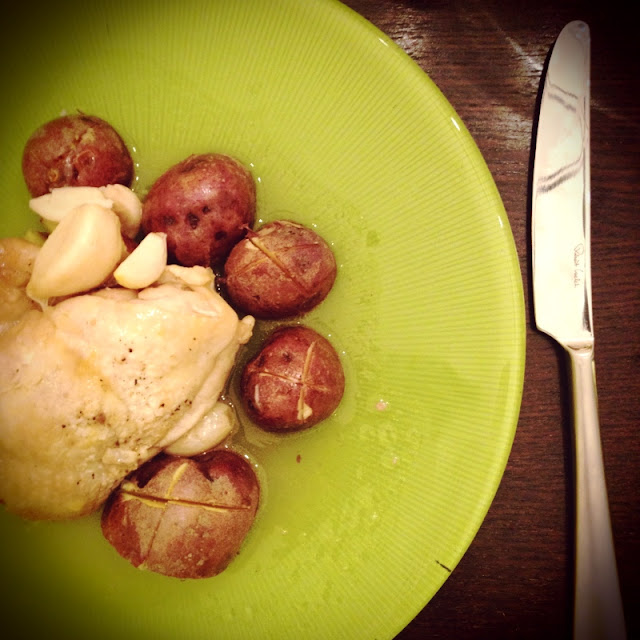 Chicken with red potatoes
