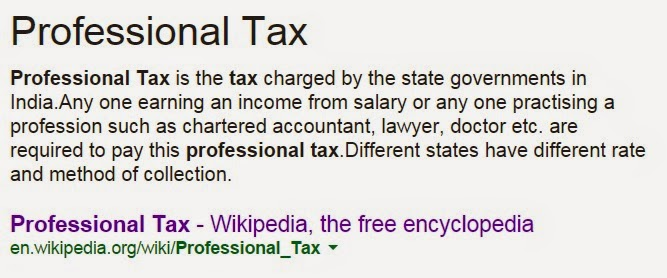 What is Professional TAx on Salary Slip
