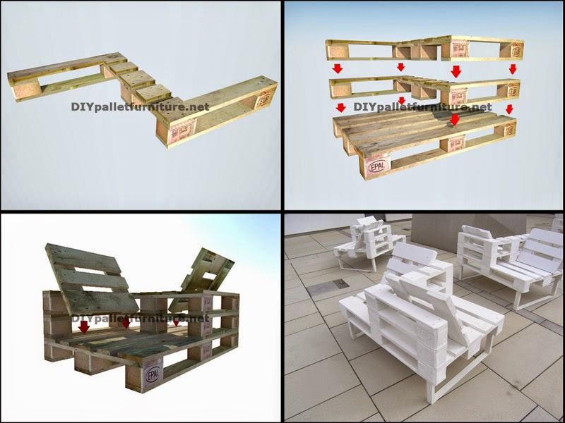 Sillones - Como hacer muebles con palets paso a paso ...