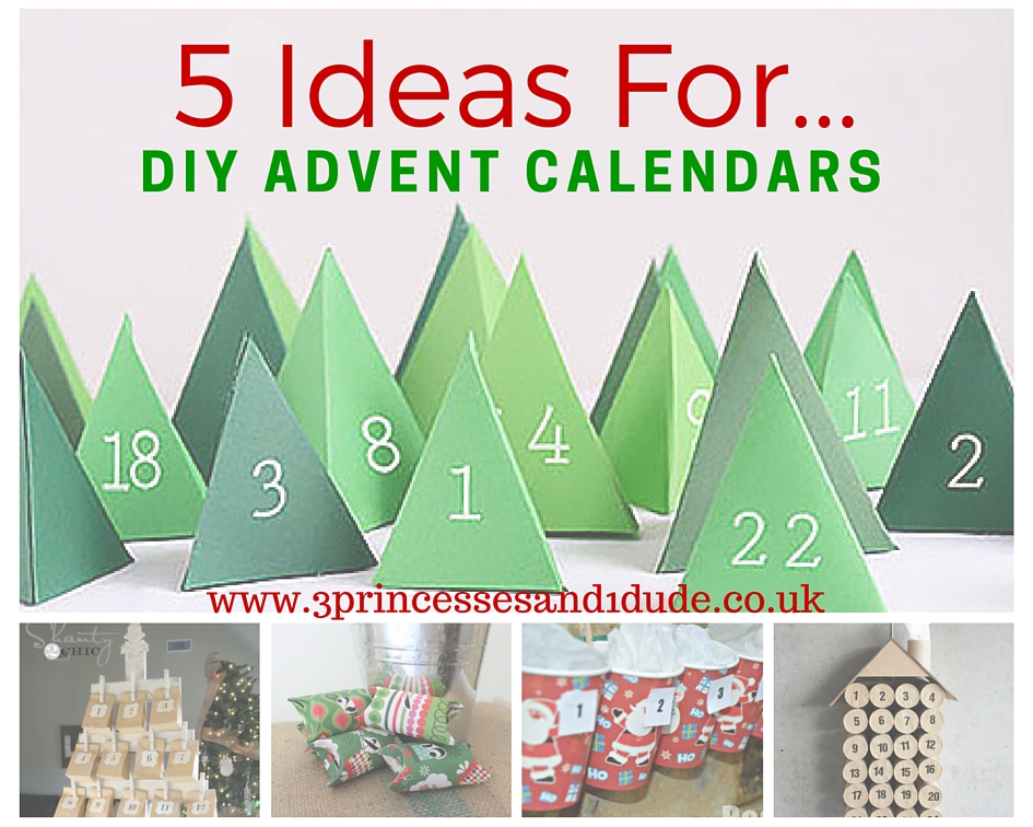 Advent Calendar Ideas Uk : Princesses and dude ideas for diy advent calendars
