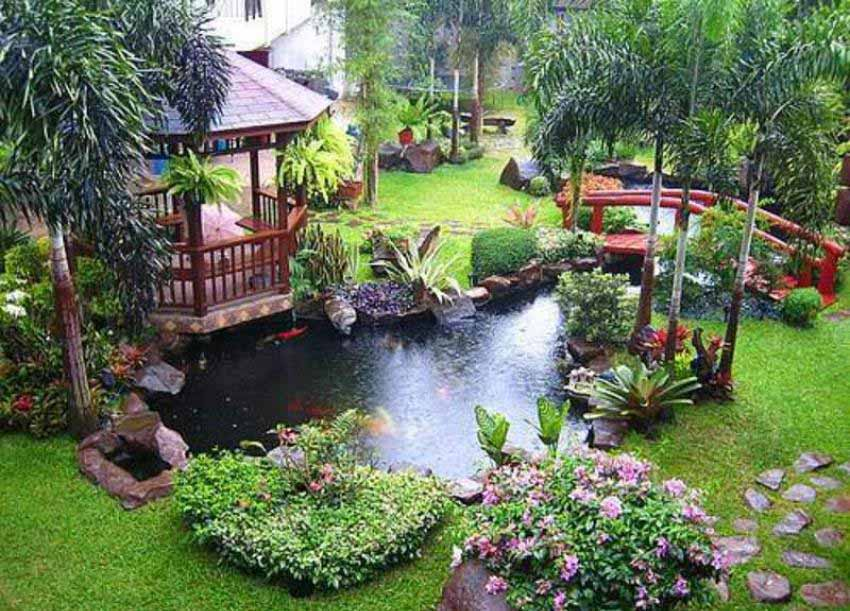 Gazebo Relaxation Garden Inspiration
