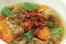 Resep praktis (mudah) sup daging sapi spesial (istimewa) enak, segar, lezat