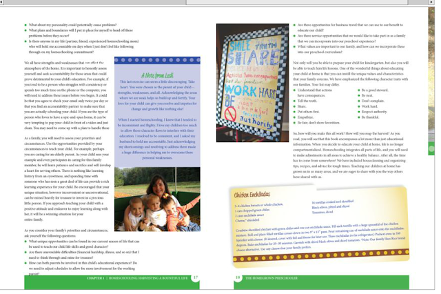 preview pages  The Homegrown Preschooler book