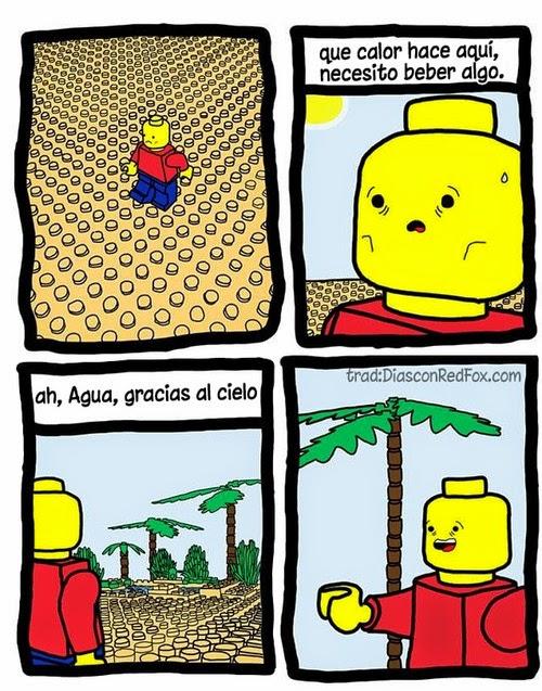 El desierto Lego, un lugar difícil para vivir