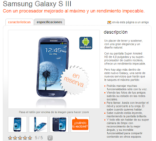 Samsung Galaxy S3 en Orange