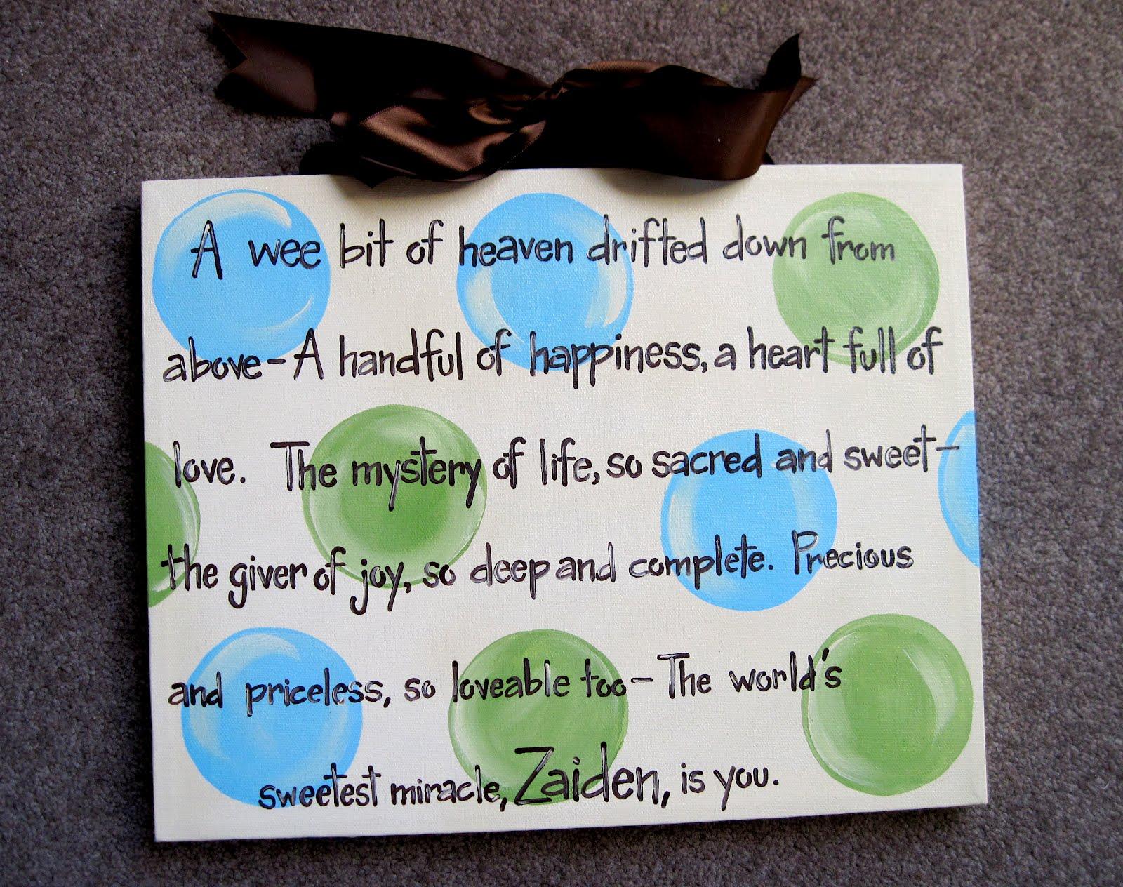 Baby Boy Gift Quotes : Dream custom artwork baby boy