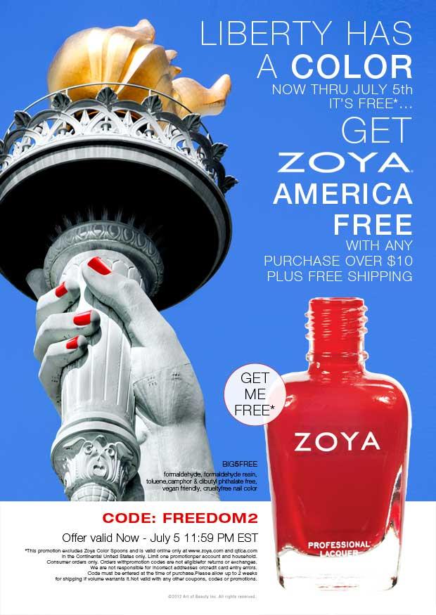 Free Zoya Nailpolish in America