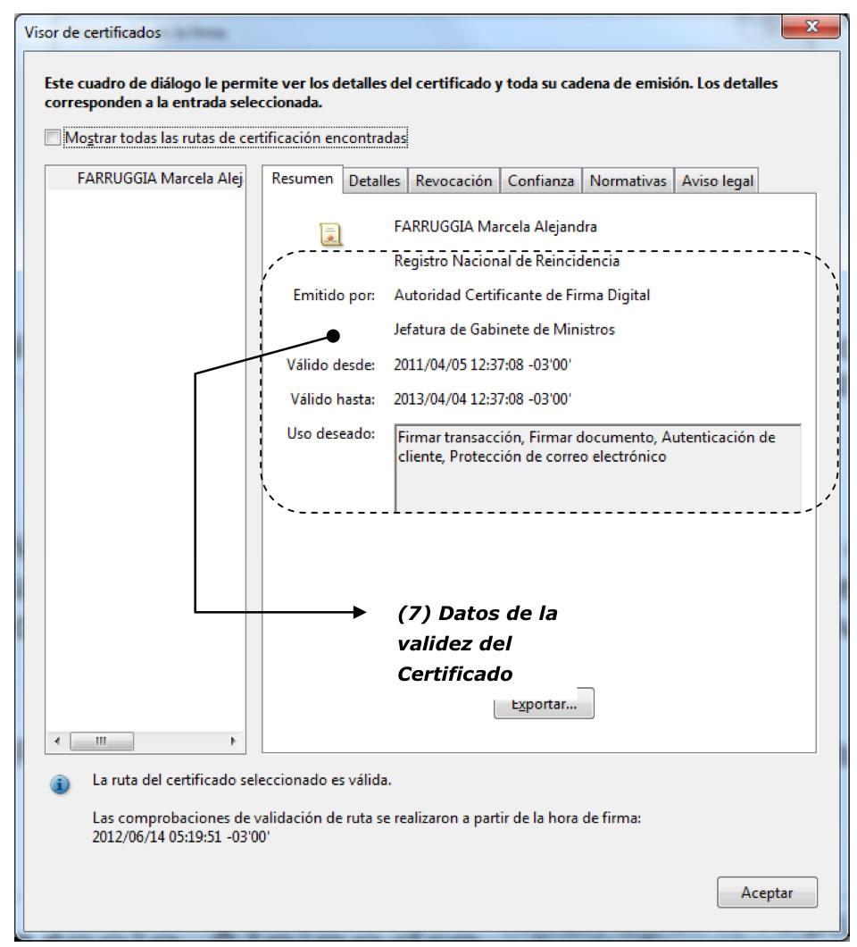 Fig. 3. Datos de la Autoridad de Certificación