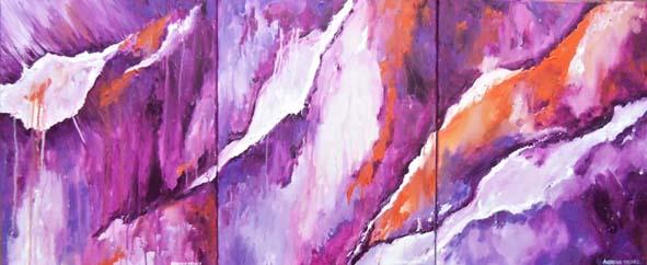 Triptyque violet