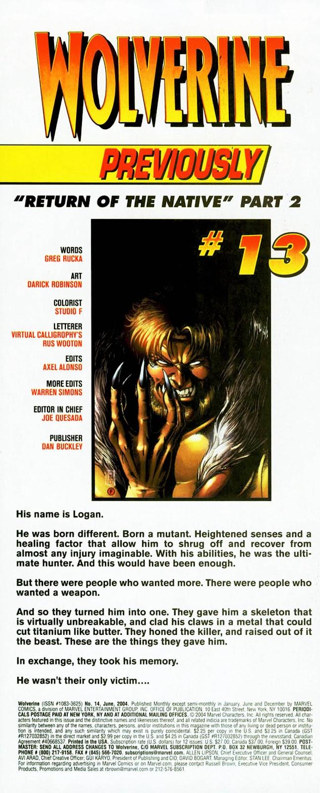 Read online Wolverine (2003) comic -  Issue #14 - 2