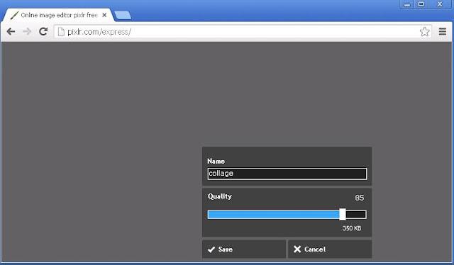 Pixlr Express Save Kaydet