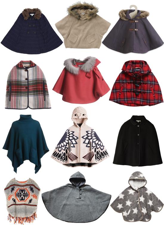 Capas y ponchos para niña