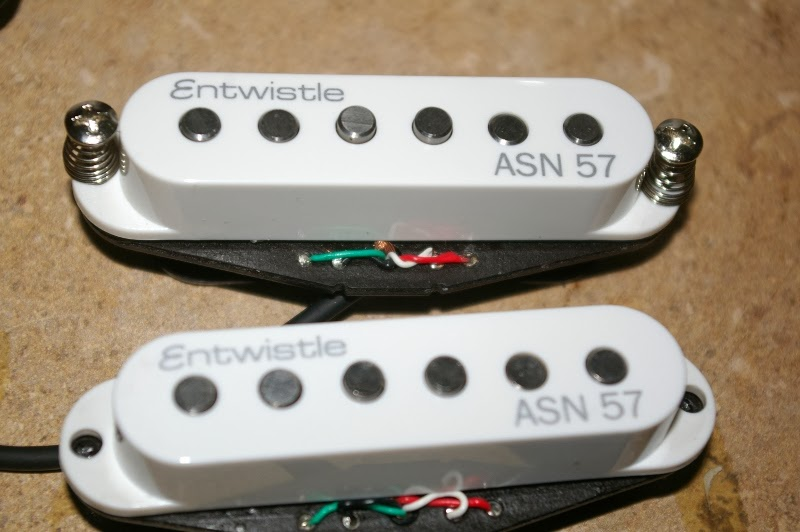 golden tubes noiseless stacked single coil pickups entwhistle first off they look near identical except the entwhistles unlike the pic had four metal eyelets and a 4 wire cable whereas the dragonfires were