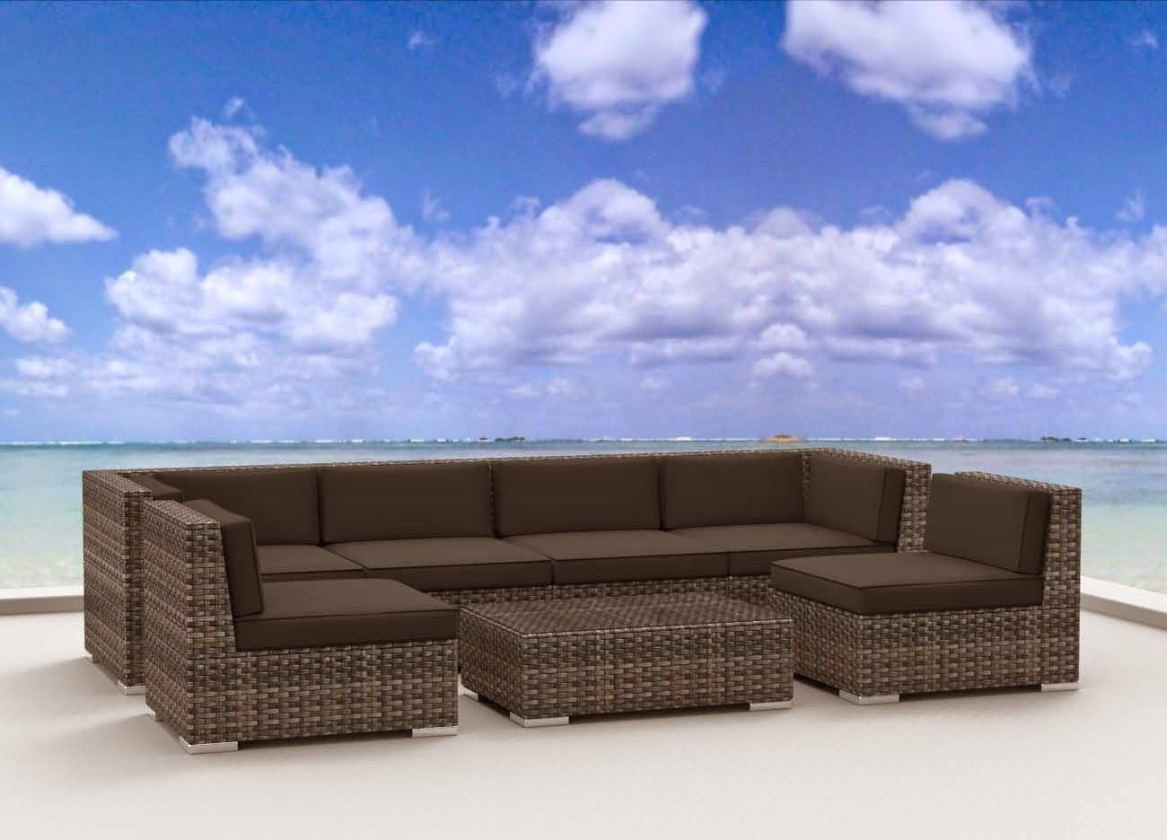 urban furnishing modern outdoor backyard wicker rattan patio furniture sofa sectional couch set. Black Bedroom Furniture Sets. Home Design Ideas