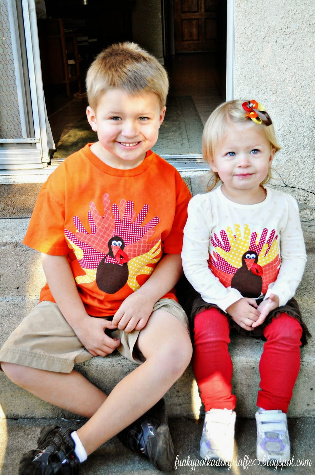 handprint turkey shirt