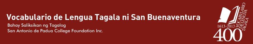 Vocabulario de Lengua Tagala