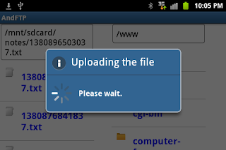 Uploader for Android-upload file to server