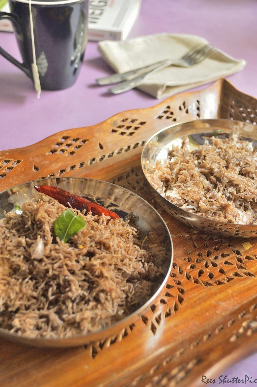 ragi semiay, anil ragi semiya recipe, easy semiya, ragi semiya,sweet coconut semiya recipe, karam semiya