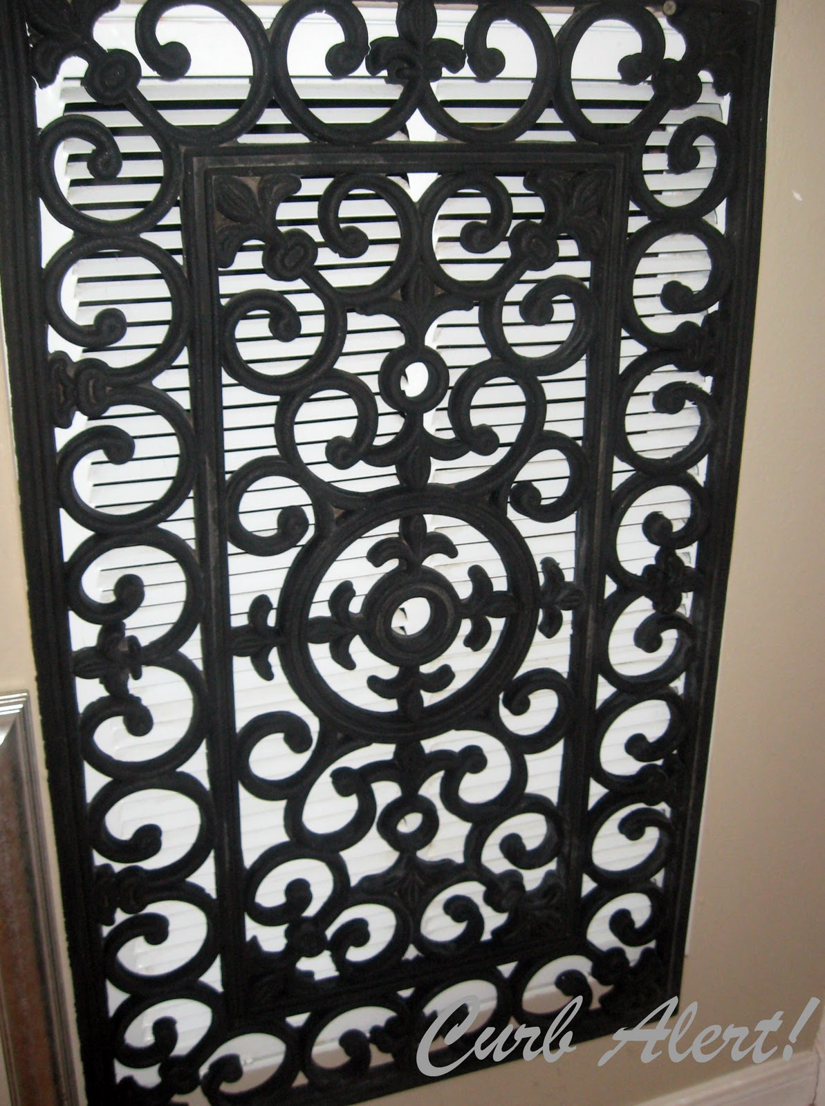 Repurposed Door Mat To Cover An Ugly Return Air Vent