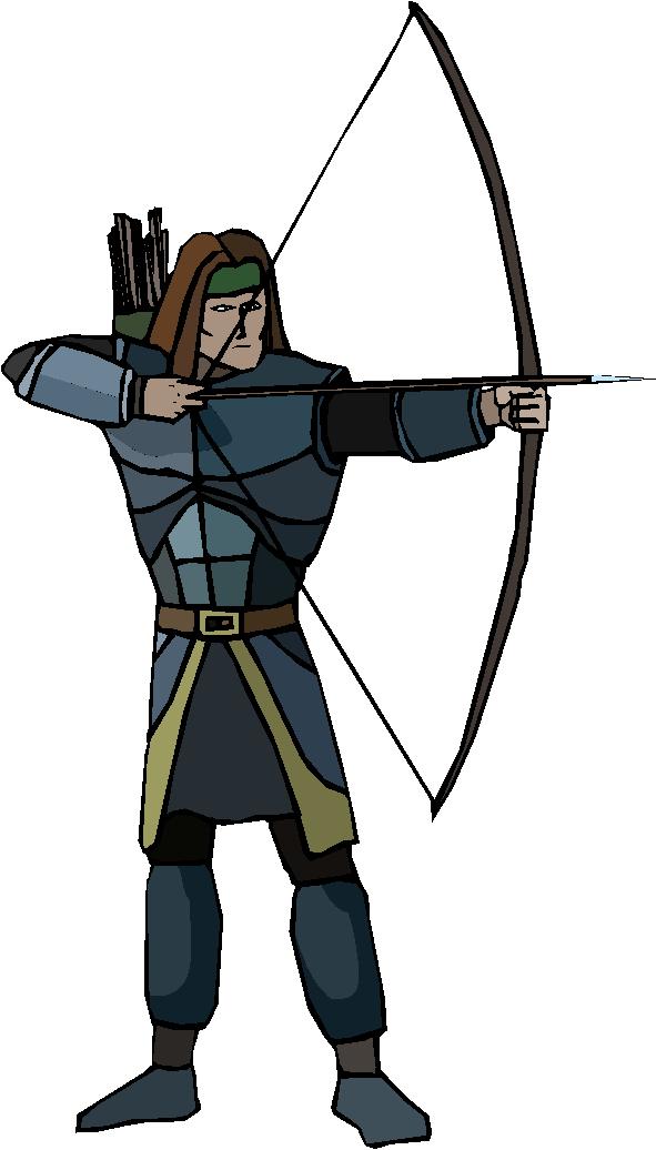 Archer Warrior Free Clipart