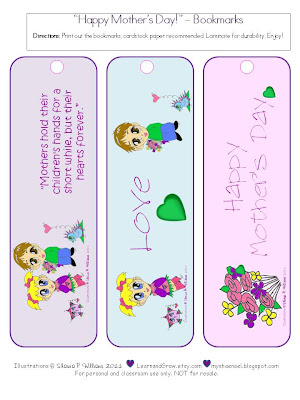 picture regarding Mother's Day Bookmarks Printable Free known as Master and Develop Options Net: Moms Working day Printable