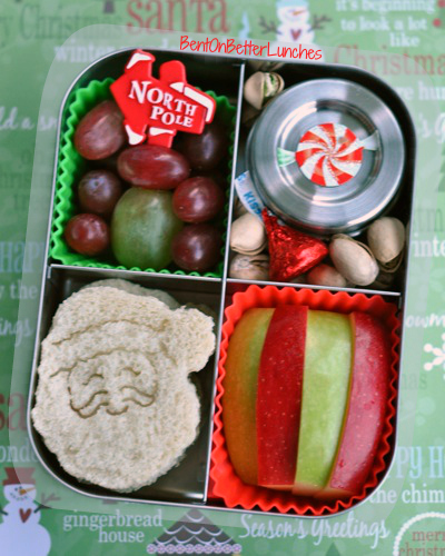 Christmassy Santa Claus Bento School Lunch in LunchBots