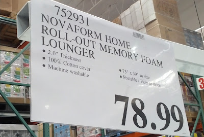 Deal for the Novaform Home Roll Out Memory Foam Lounger at Costco