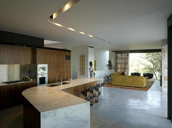 Fotos de cocinas integradas en el sal n ideas para for Cocina y sala juntas