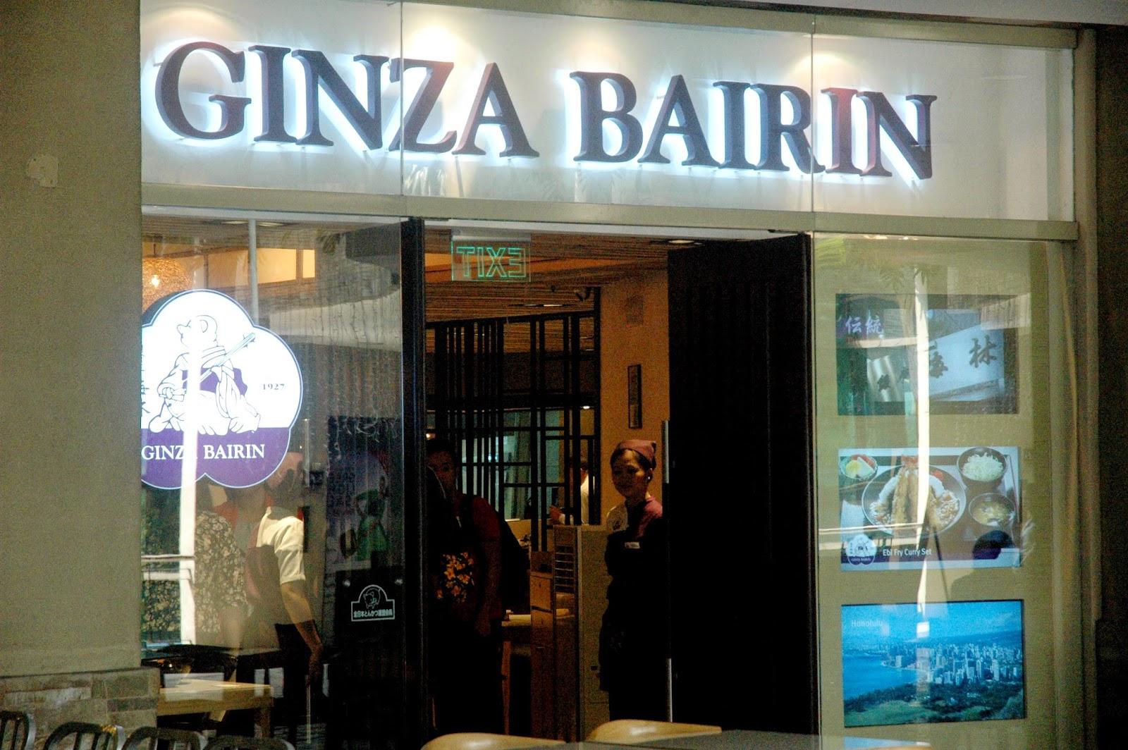 Ginza Bairin Trinoma First Stop Ginza Bairin
